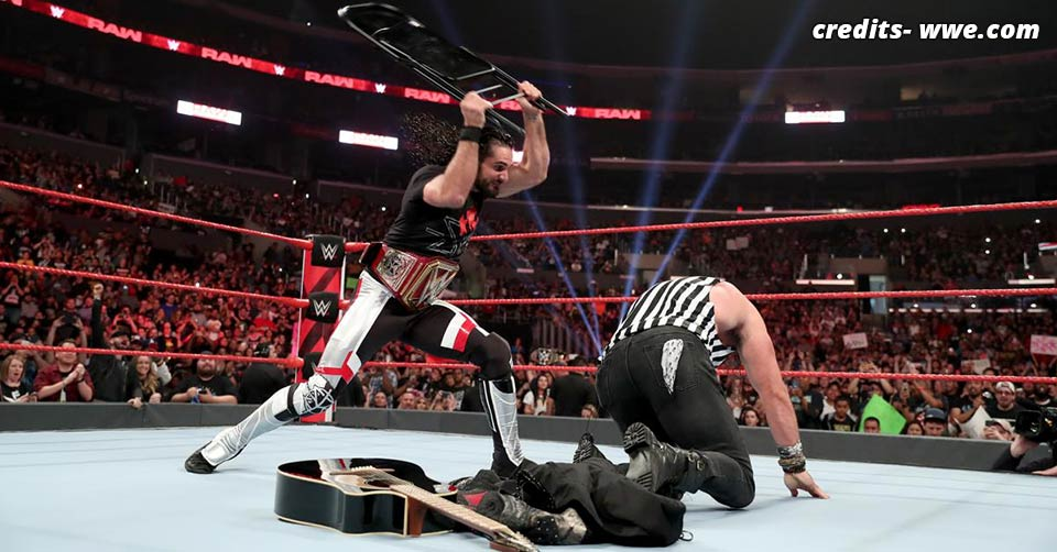 Seth Rollins blasts Elias RAW 17 June 2019
