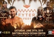 Young Bucks and Kenny Omega vs Lucha Bros and Loredo Kid Fyter Fest