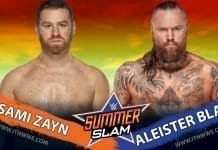 Aleister Black Vs Sami Zayn SummerSlam 2019