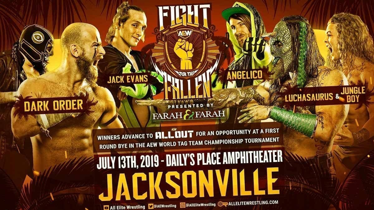 Dark Order vs Luchasaurus & Jungle Boy vs Anglico & Jack Evans Fight for the Fallen 2019