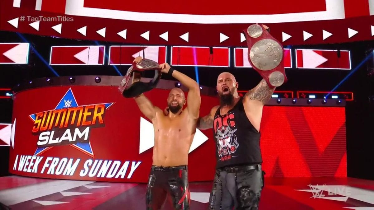 Gallows & Anderson RAW Tag Team Championship Win