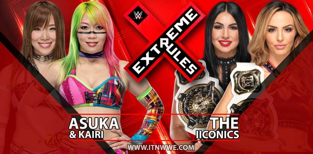 The Iiconics vs Asuka & Kairi Shane Women's Tag Team Championship Extreme Rules 2019