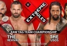 The Revival vs The Usos Raw Tag Team Championship Extreme Rules 2019