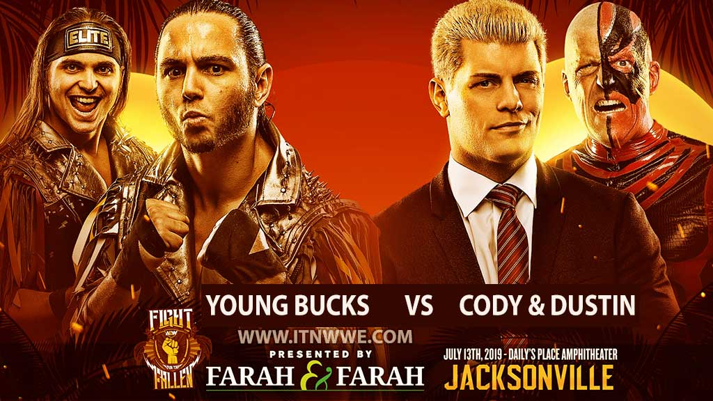 The Young Bucks vs Cody & Dustin Rhodes AEW Fight for the Fallen 2019