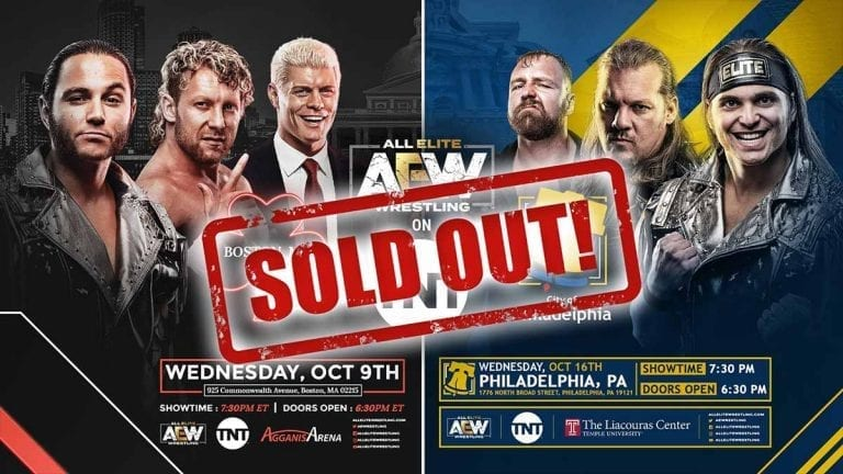 Tickets for AEW TV Show Episode 2 & 3 Sold Out in 1 Hour
