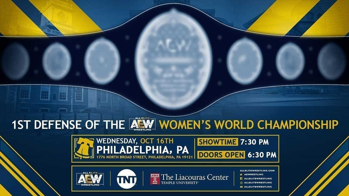 AEW Women's Championship Match Philadelphia 16 October 2019
