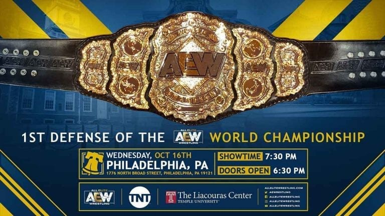 First AEW World Title Defense to Take Place at Philadelphia