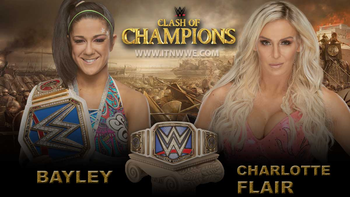 Bayley vs Charlotte Flair WWE Smackdown Women's Championship WWE Clash of Champion 2019