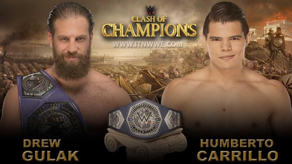 Drew Gulak vs Humberto Carrillo Cruiserweight Championship WWE Clash Of Champions 2019