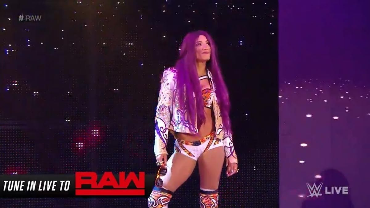 Sasha Banks Returned to Monday Night RAW episode of 12 August 2019