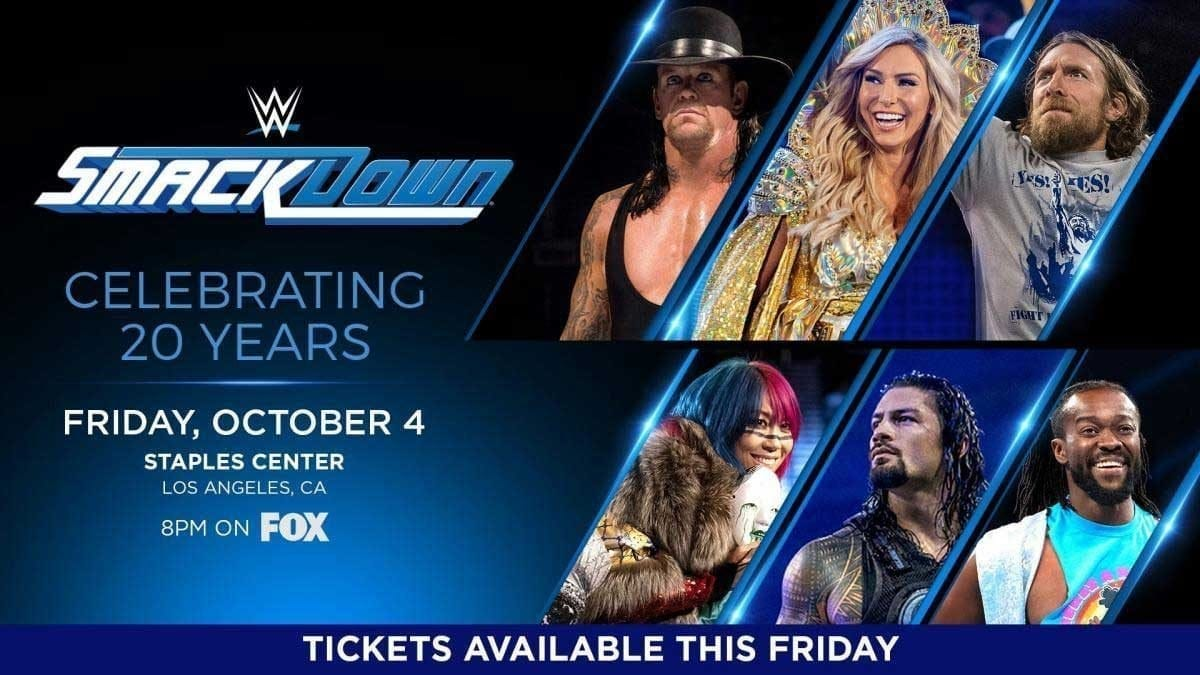 SmackDown 20th Anniversary Celebration Fox Debut 8 October