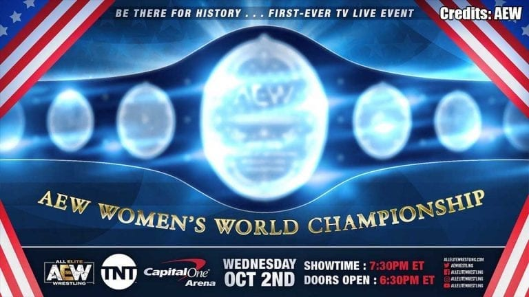 First AEW Women Champion to be Crowned at TV Debut on TNT