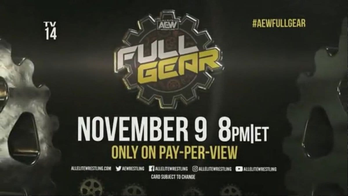 AEW Full Gear 2019 PPV Poster