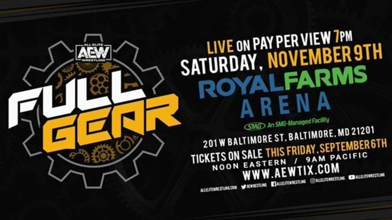 AEW announces Ticket Details for Full Gear 2019 PPV