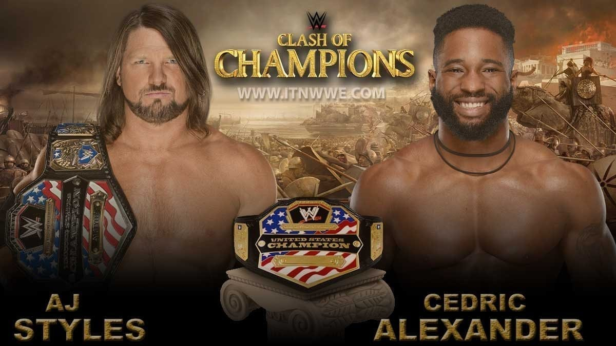 AJ Styles vs Cedric Alexender United States Championship at WWE Clash Of Champions 2019