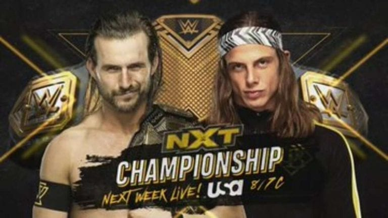 NXT Announces Multiple Championship Matches for Next Week