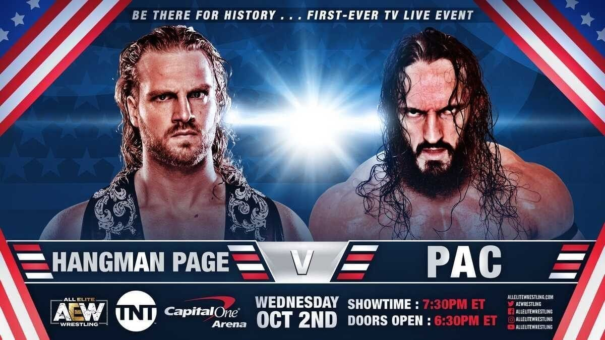 Adam Page vs PAC AEW Dynamite 2 October