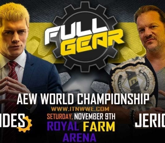 Chris Jericho vs Cody Rohdes AEW World Championship at AEW Full Gear 2019