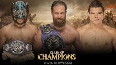 Drew Gulak vs Humberto Carrillo vs Lince Dorado Cruiserweight Championship WWE Clash Of Champions 2019