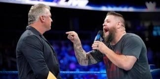 Kevin Owens challenges Shane McMahon for Ladder Match