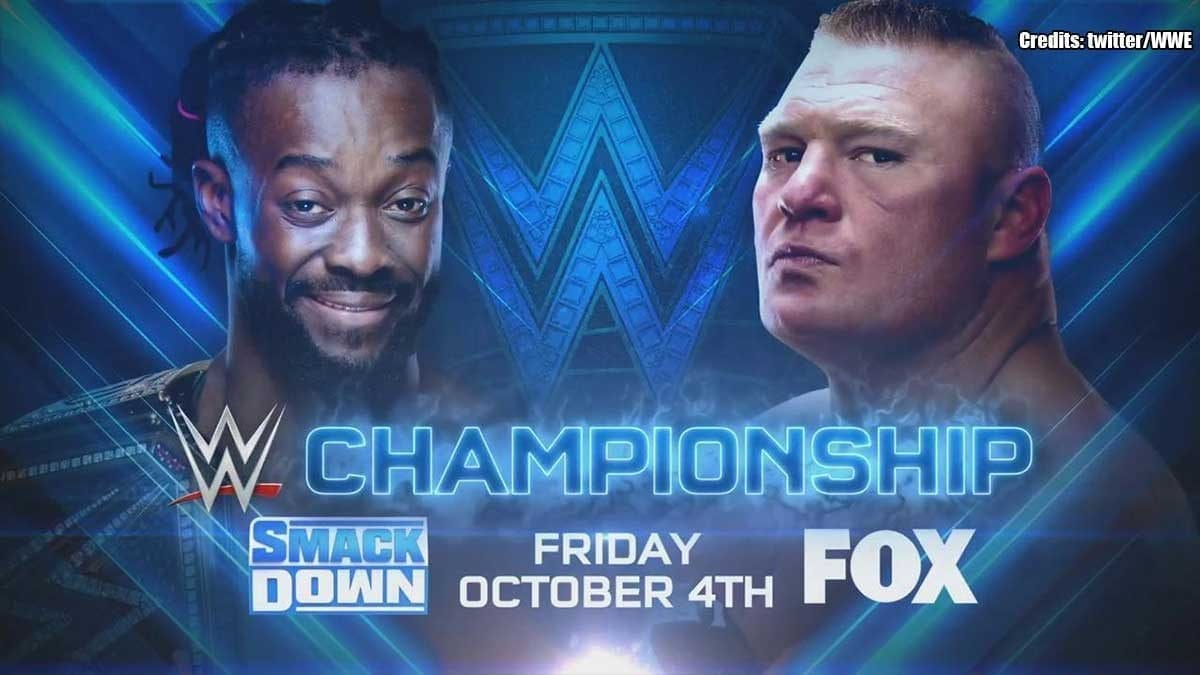 Kofi Kingston vs Brock Lesnar WWE Championship 4 October 2019 SmackDown Fox Premiere