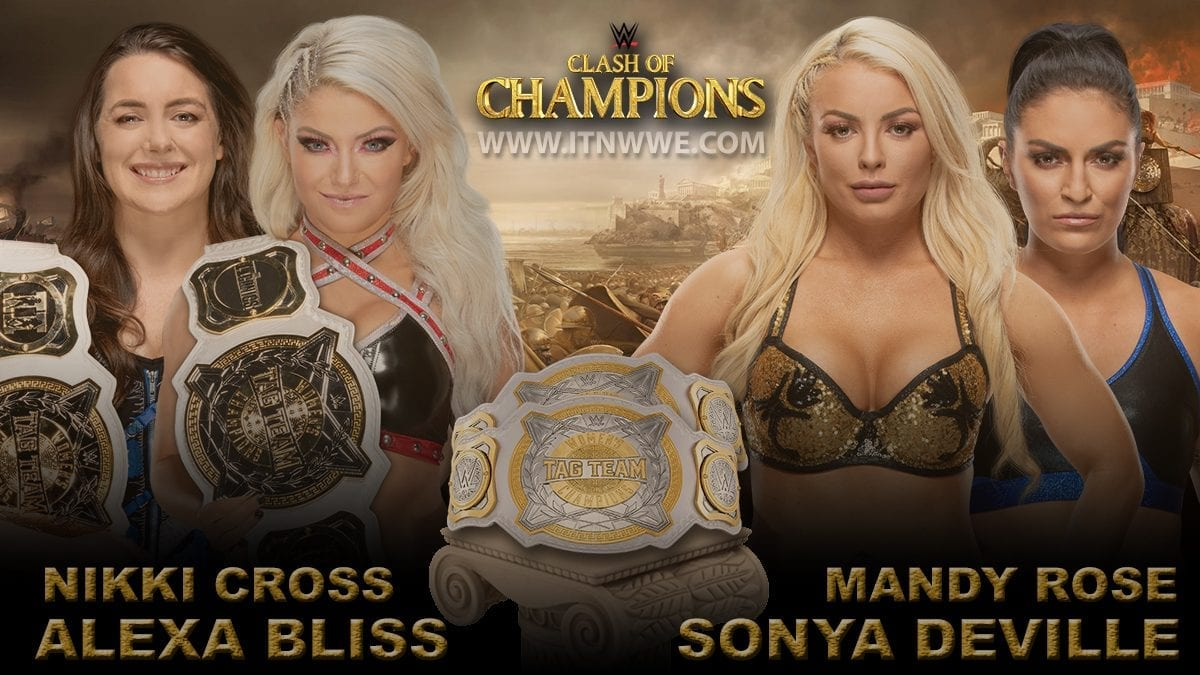 Nikki Cross & Alexa Bliss vs Mandy Rose & Sonya Deville Women's Tag Team Championship WWE Clash Of Champions 2019