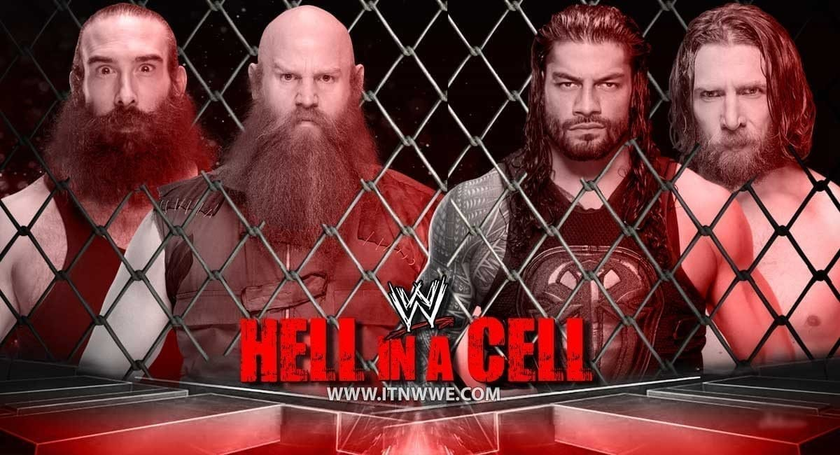 Roman Reigns & Daniel Bryan vs Erick Rowan & Luke Harper Hell In a Cell 2019