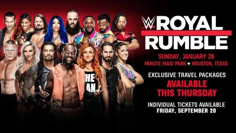 WWE Announces Royal Rumble 2020 Tickets Sales, Special Packages