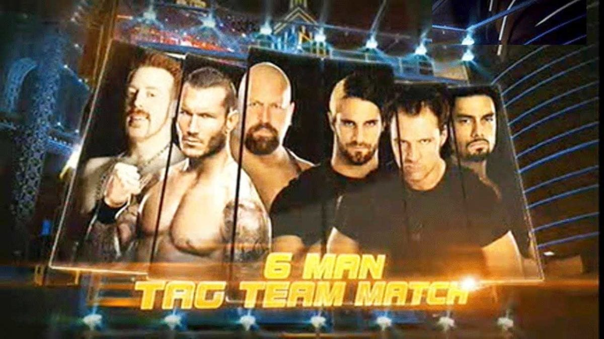 The Shield vs Randy Orton, Sheamus, and the Big Show Wrestlemania 2013