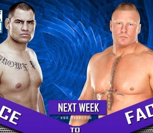 Brock Lesnar vs Cain Velasquez face to Face at SmackDown 25 october 2019
