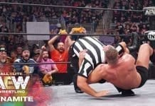 Jon Moxley Attacks Referee