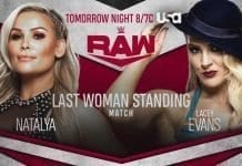 Natalya vs Lacey Evans Last Women Standing Match RAW 7 October 2019