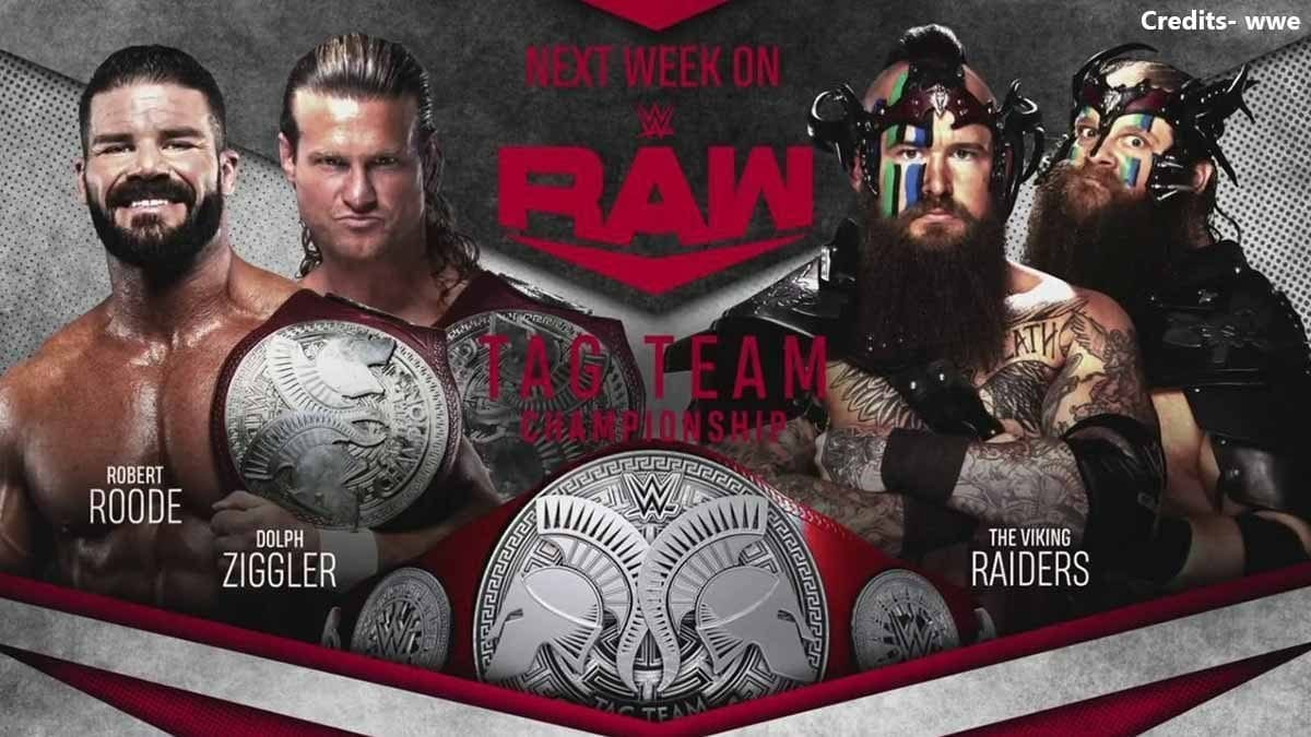 Robert Roode & Dolph Ziggler vs The Viking Raiders RAW Tag Team Championship