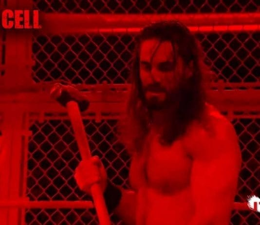 Seth Rollins Attack The Fiend by Hammer at Hell In A Cell 2019