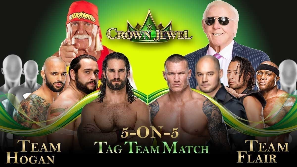 Team Ric Flair vs Team Hulk Hogan Crown Jewel 2019