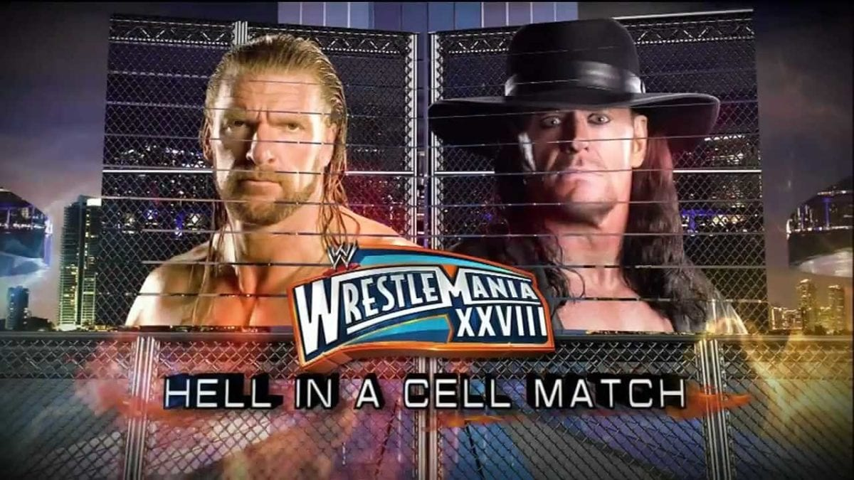 The Undertaker vs Triple h Hell In A Cell Match Wrestlemania 2012