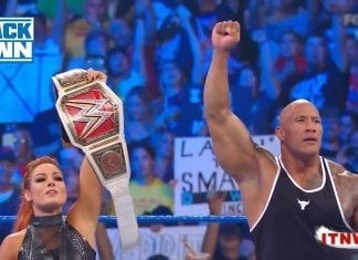 The rock Join Becky Lynch on SmackDown's Fox Premiere