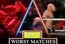 Top 5 Worst Matches of all time