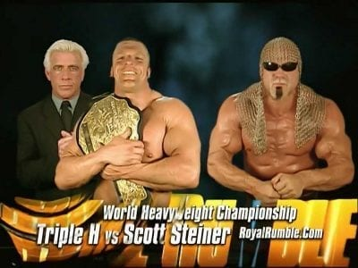 Triple H vs Scott Steiner Royal Rumble 2003