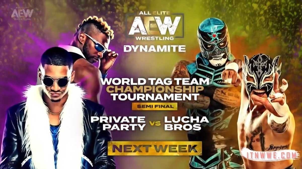 World Tag Team Championship Tournament (Private Party vs Lucha Bros) at AEW Dynamite 23-10-19