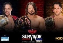 AJ Styles vs Roderick Strong vs Shinsuke Nakamura Survivor Series 2019
