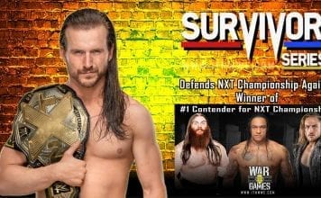 Adam Cole To Defend NXT Championship at Survivor Series
