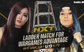Io Shirai vs Mia Yim-Ladder Match NXT 13 November 2019