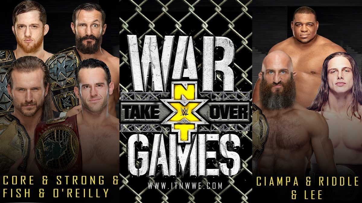 The Undisputed Era- Adam Cole, Roderick Strong, Bobby Fish and Kyle O'Reilly vs. Tommaso Ciampa, Keith Lee, Matt Riddle, TBA- NXT Takeover WarGames 2019