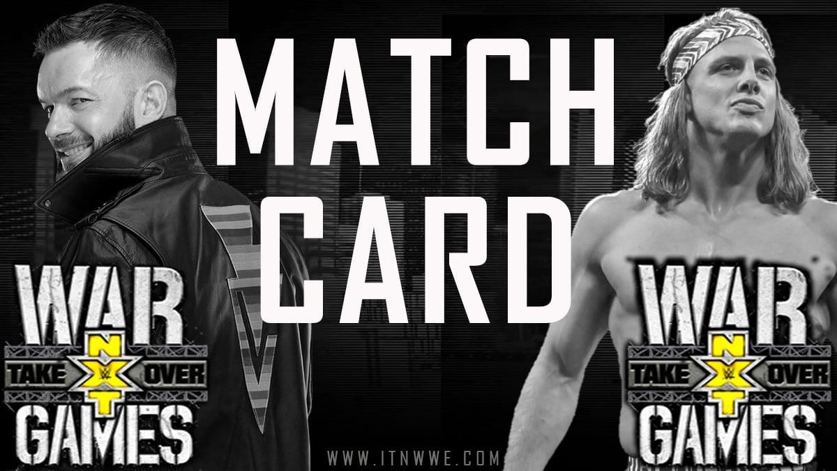 NXT TakeOver- Wargames 2019 Match Card