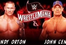 Randy Orton vs John Cena Wrestlemania 36 2020