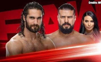 Seth Rollins vs Andrade for Monday Night RAW 18 November 2019 for Survivor Series 2019 place