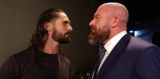 Seth Rollins with Triple H