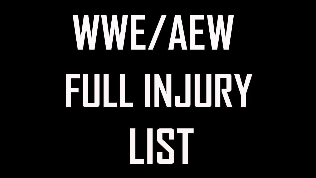 WWE & AEW Injury List