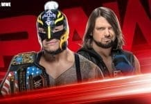 Rey Mysterio vs AJ Styles - WWE United States Championship RAW 9 December 2019